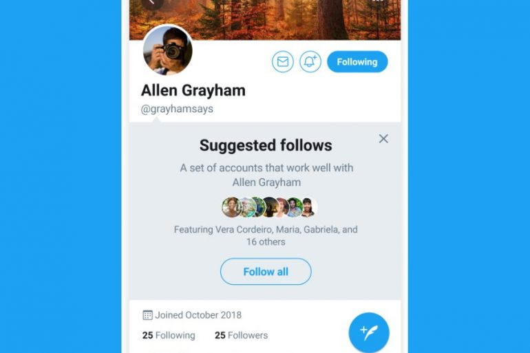 Suggested Follows on twitter